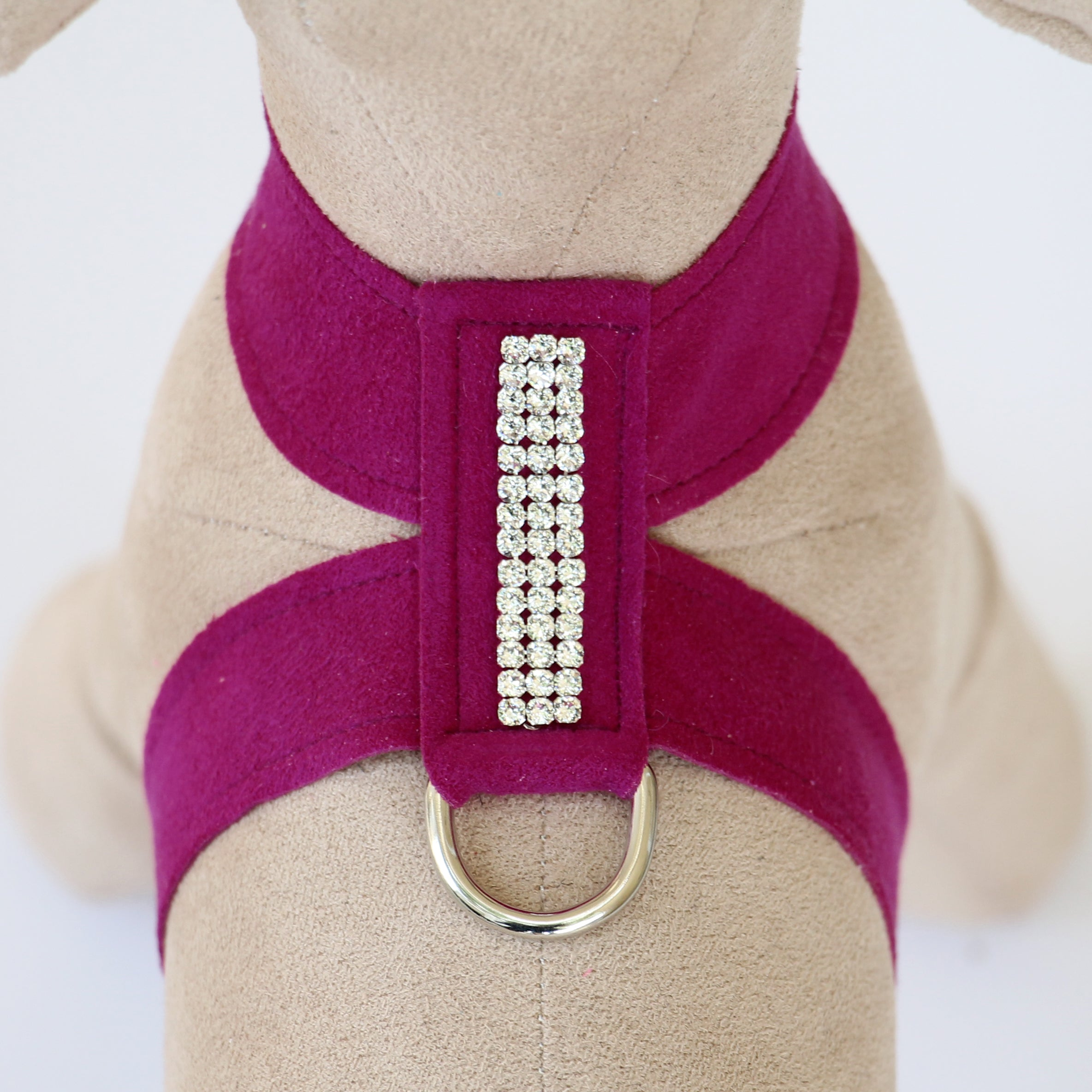 Giltmore 3-Row Crystal Pet Harness: Wine