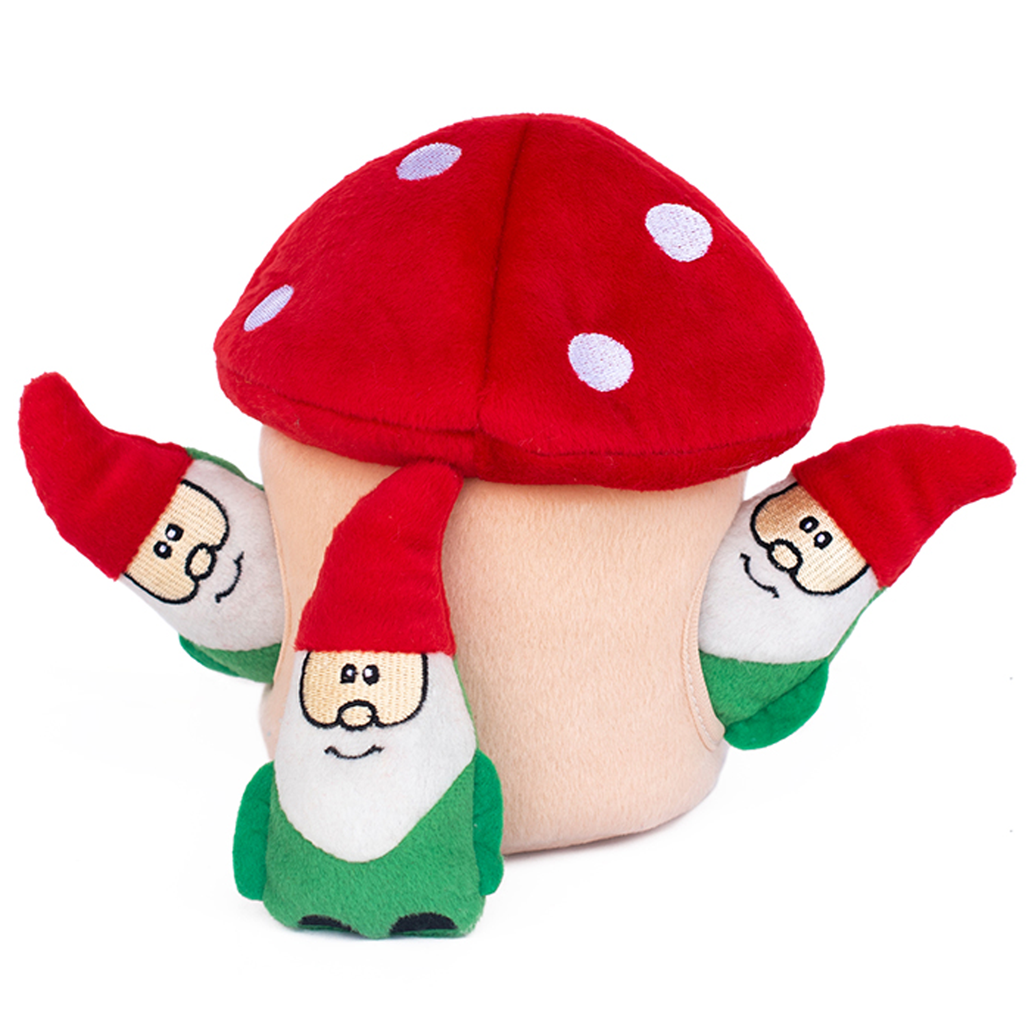 Gnomes In Mushroom Dog Toy