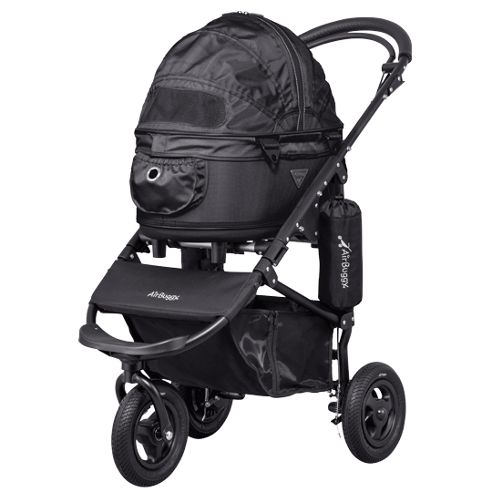 AirBuggy Dome 2 Brake Dog Stroller: Black (SM)