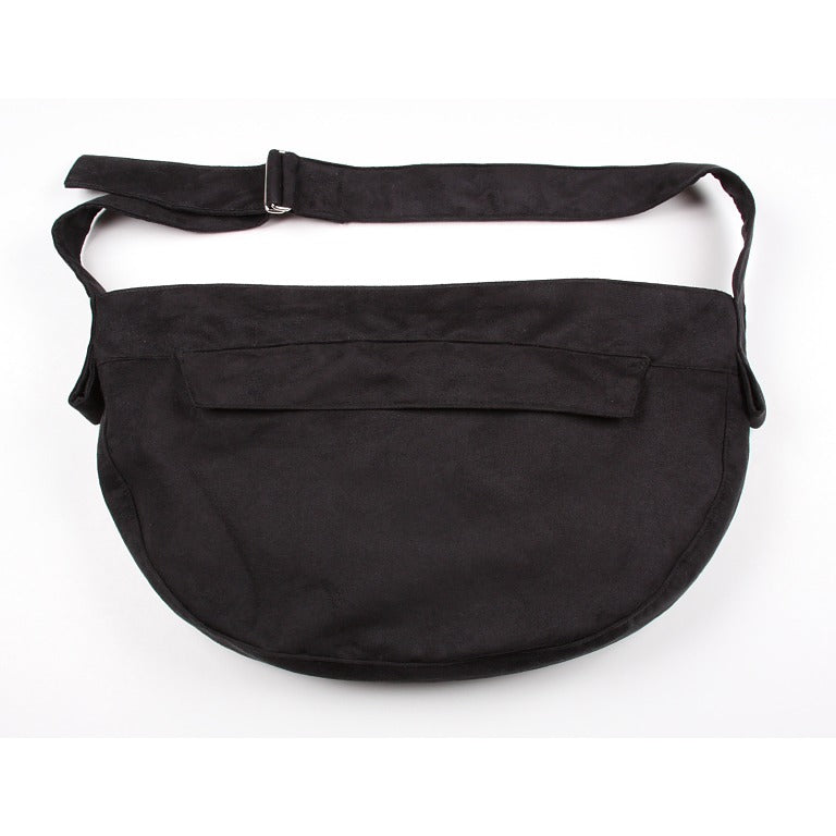 Luxe Suede Cuddle Pet Carrier: Black