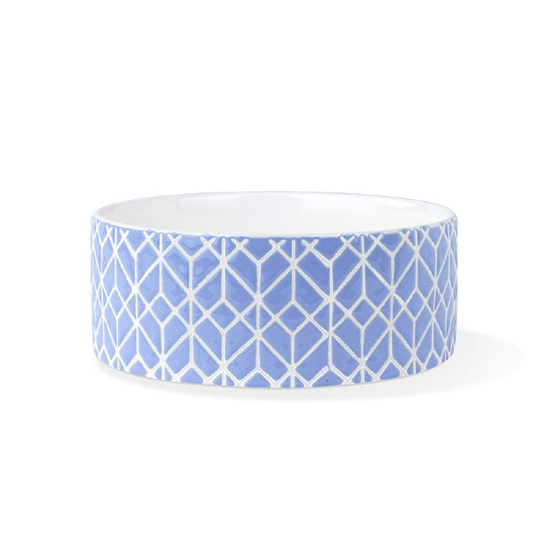 Pet Boutique - Dog Bowls - Blue Deco Pet Bowl