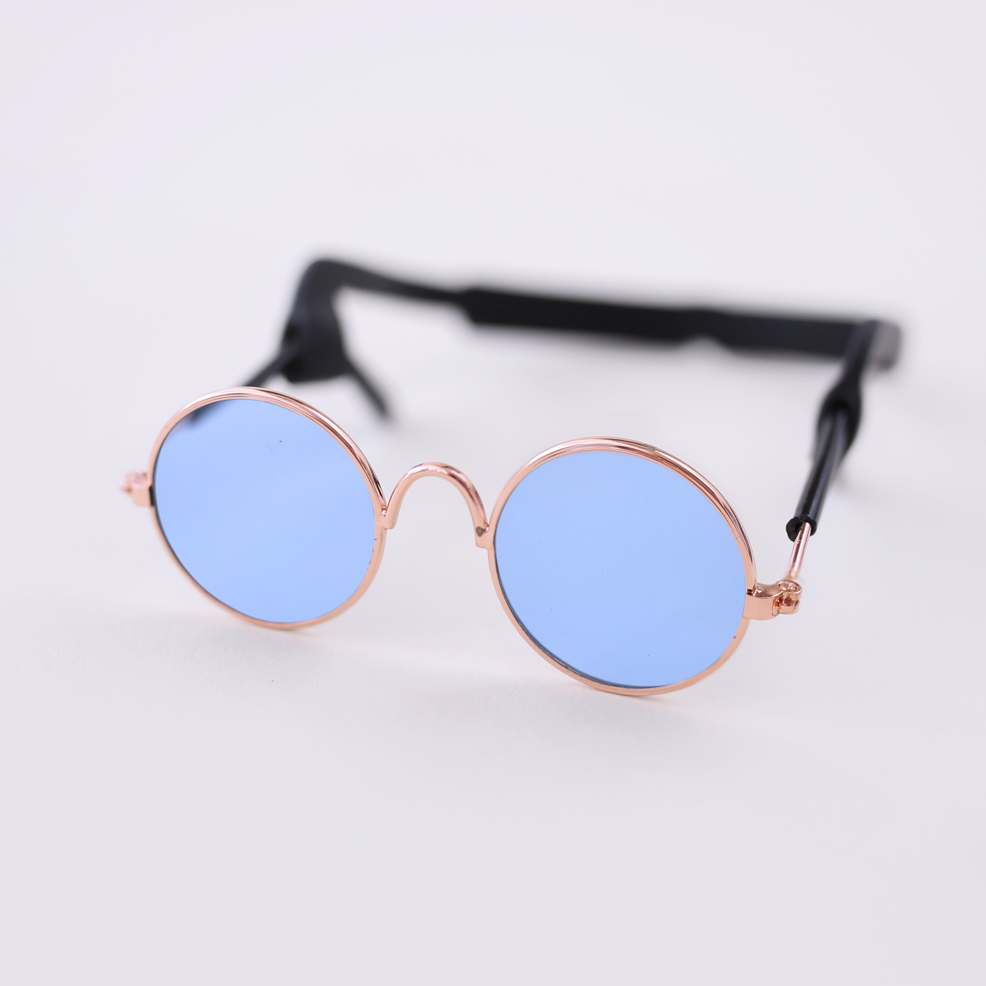 Light Blue Retro Dog Sunglasses Puppy Glasses