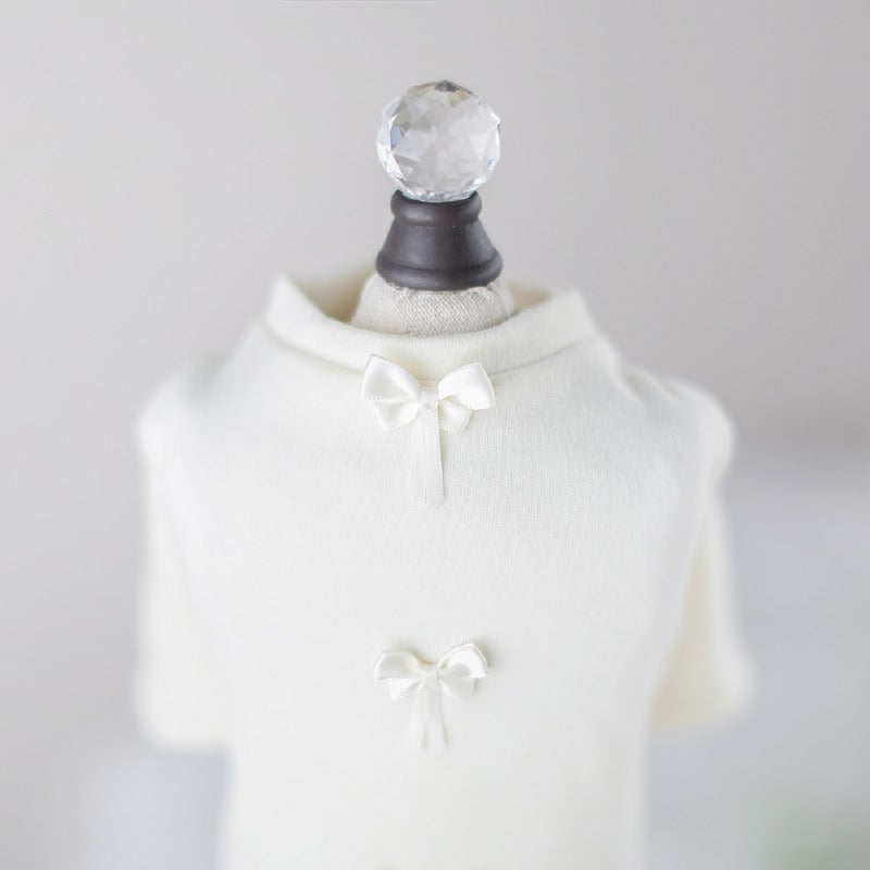 Dainty Bow Dog Tee