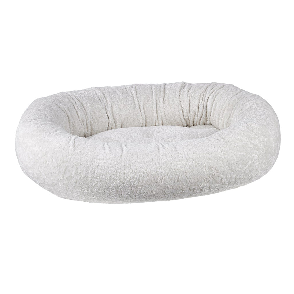 Donut Dog Bed: Ivory Sheepskin