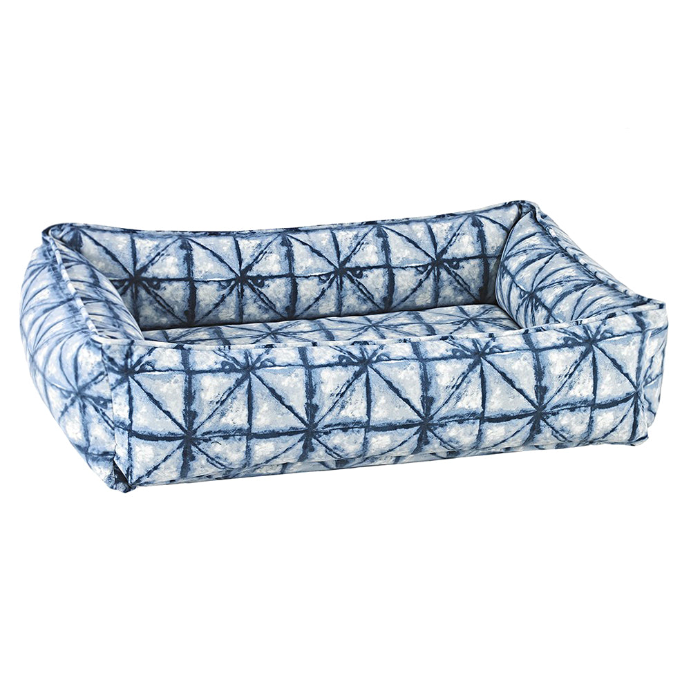 Urban Dog Bed: Shibori Blue