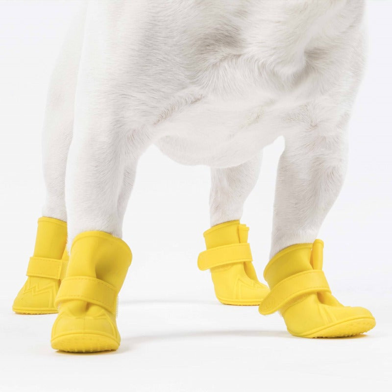 Wellies Dog Boots: Yellow