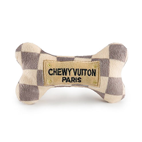 Chewy Vuiton Checker Dog Bone