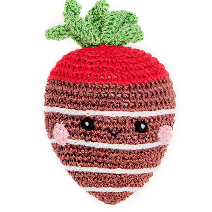 Crochet Chocolate Strawberry Dog Toy