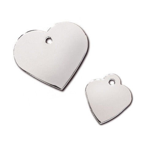 Heart Pet ID Tag: Chrome