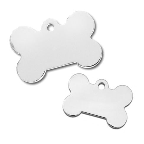 Bone Pet ID Tag: Chrome