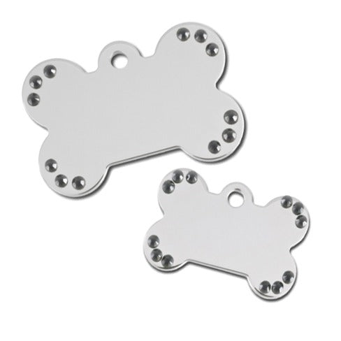 Diva Bone Pet ID Tag: Black Bling