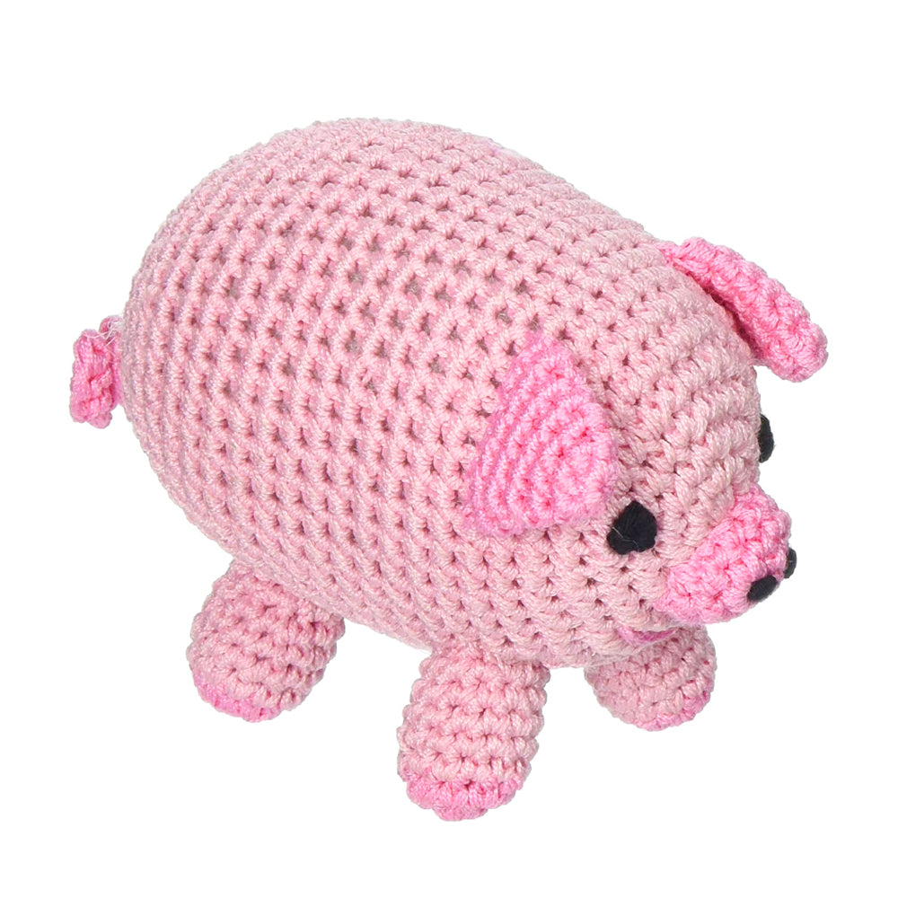 Crochet Piggy Boo Dog Toy
