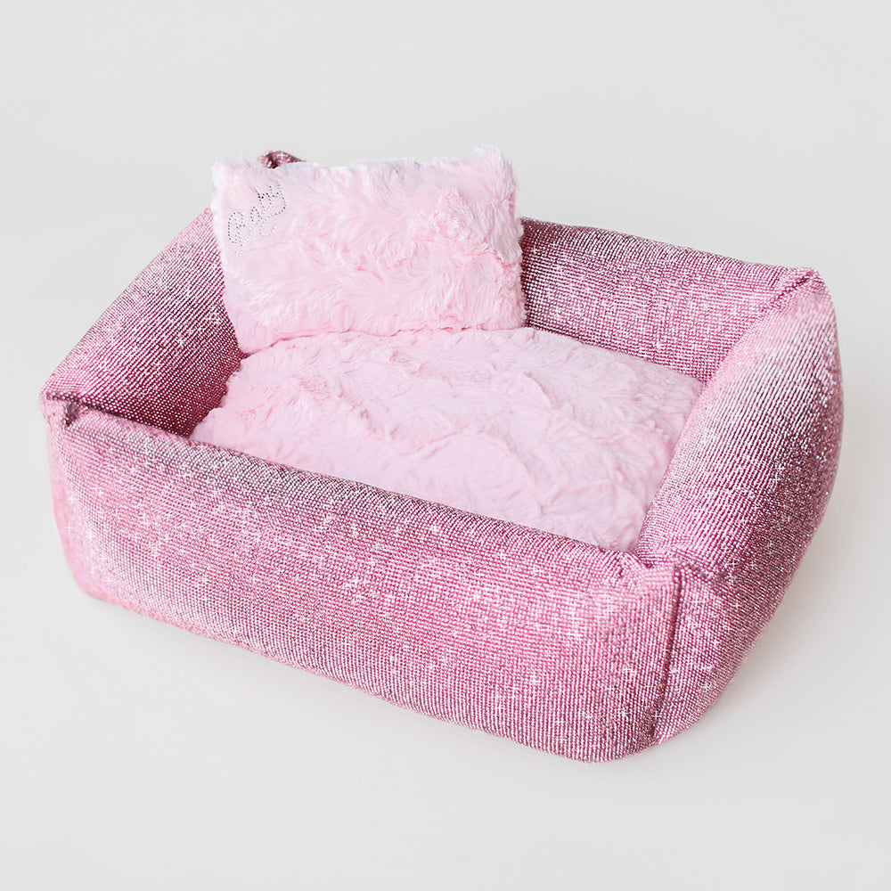 Imperial Crystal Dog Bed: Pink