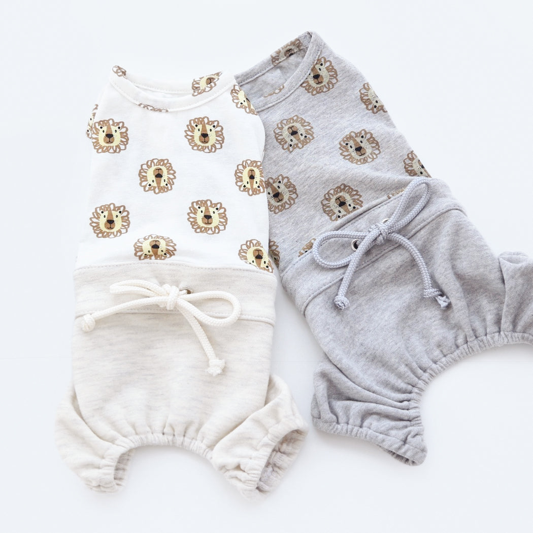Lion Dog Pants Romper