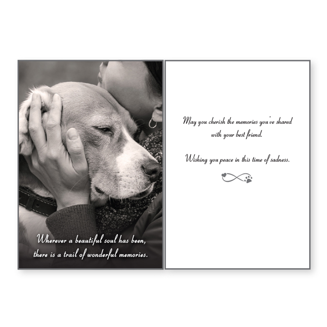 Sympathy Card: Wherever a Beautiful Soul has been...