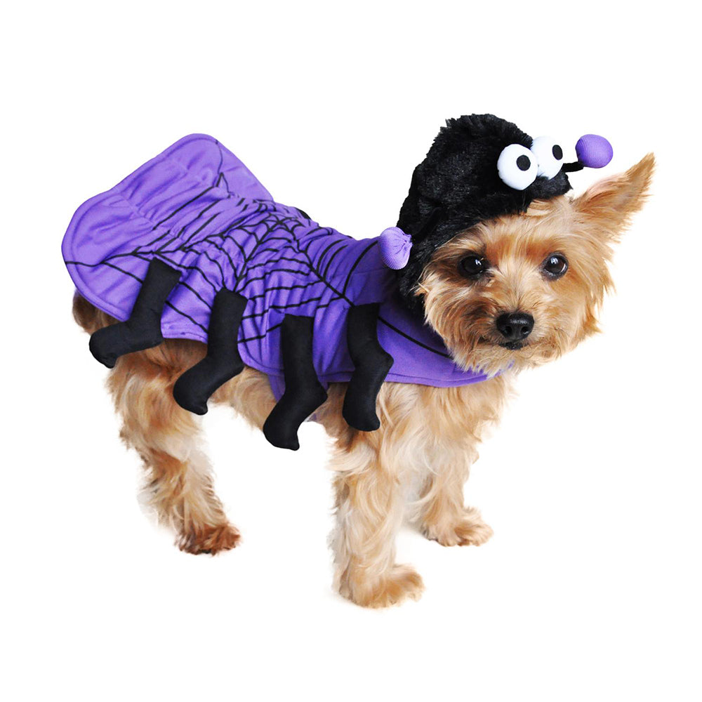 Purple Spider Dog Costume