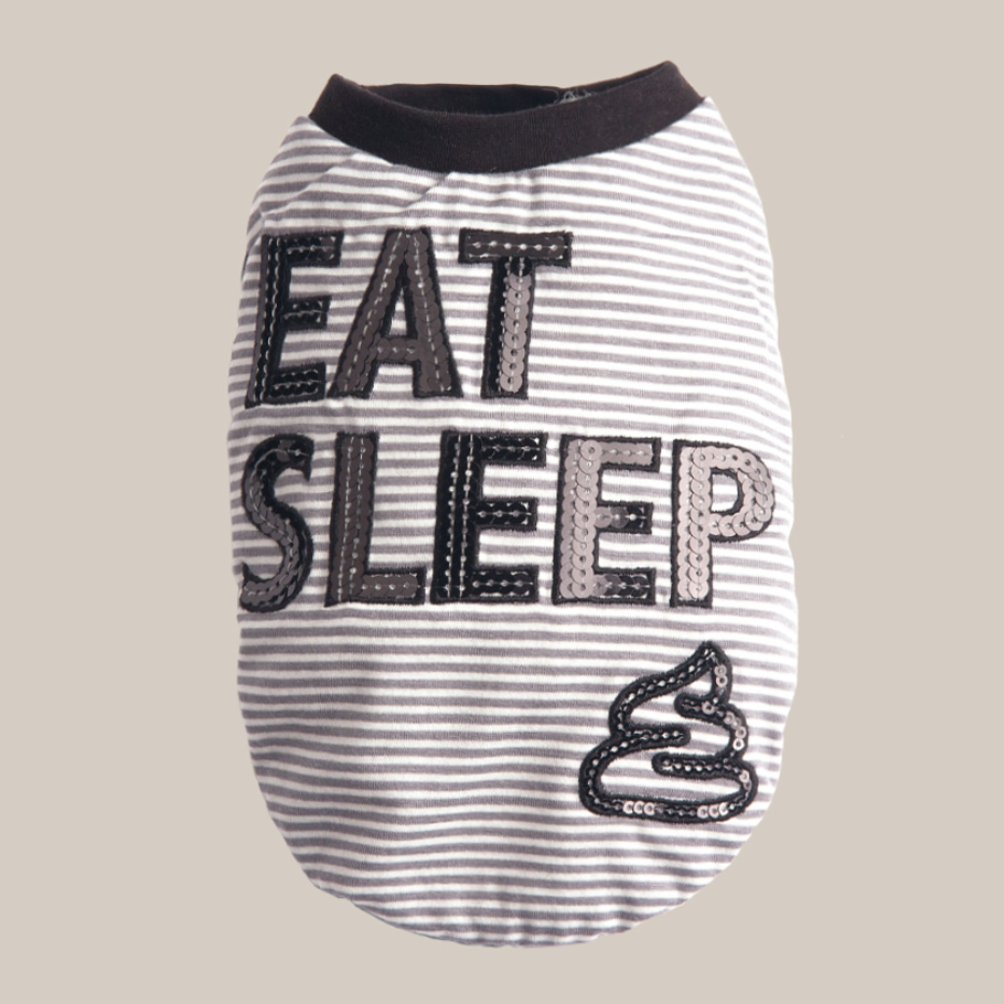 Eat Sleep Dog Tee: Black
