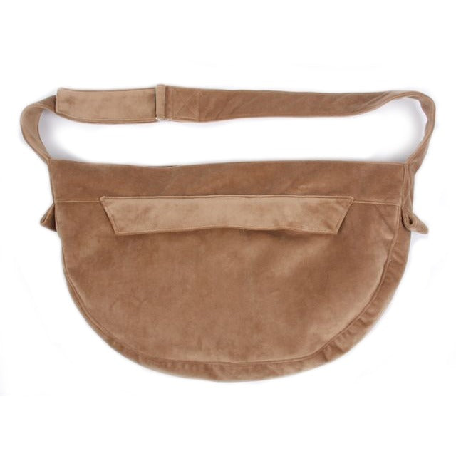 Luxe Suede Cuddle Pet Carrier: Fawn