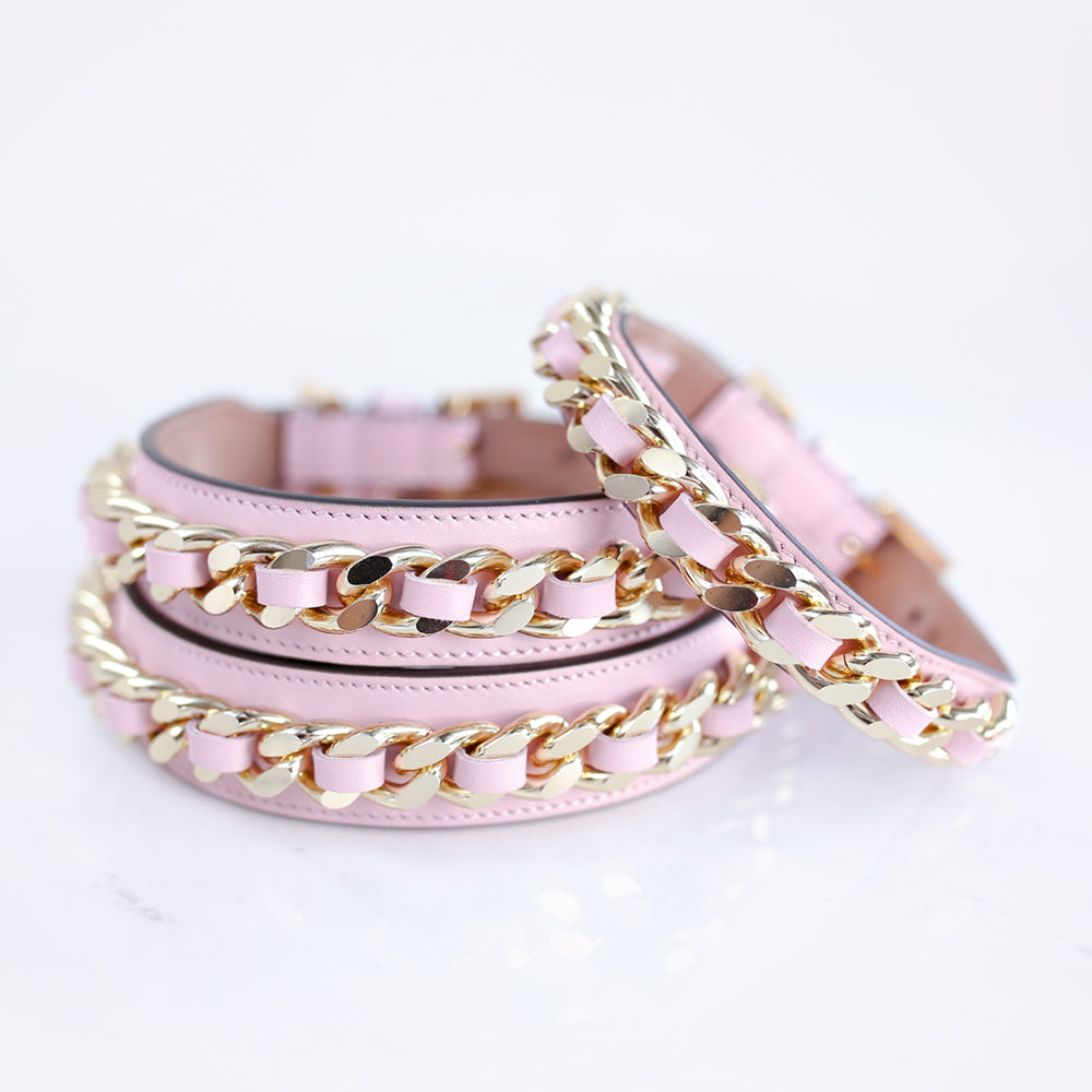 Frida Chain Collar: Pink