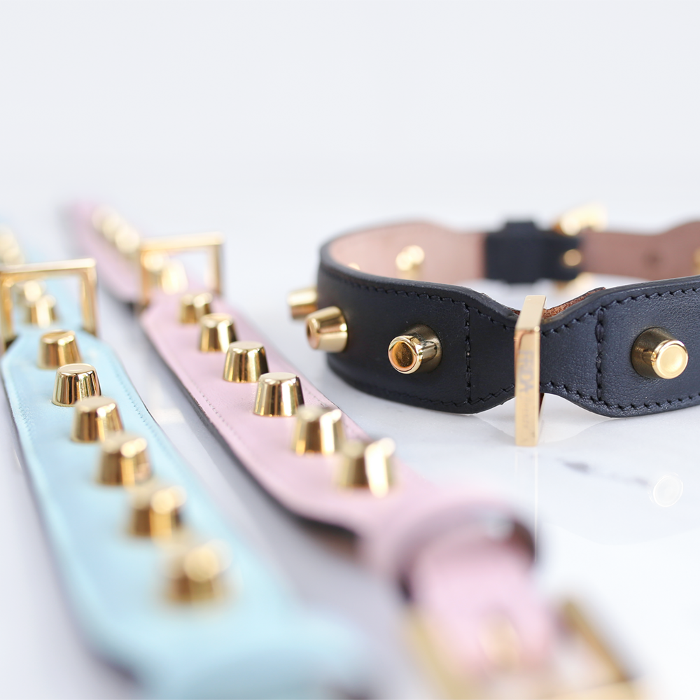 Frida Stud Bag Collar: Black