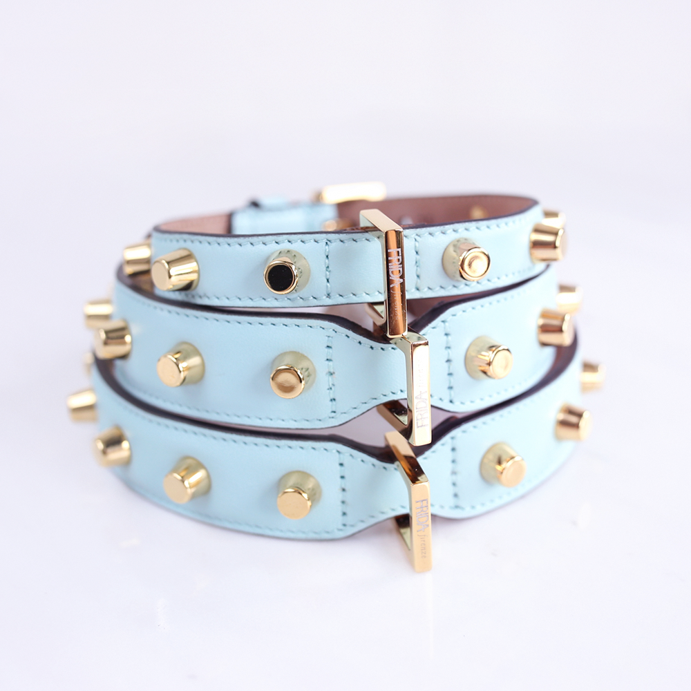 Frida Stud Bag Collar: Cloud