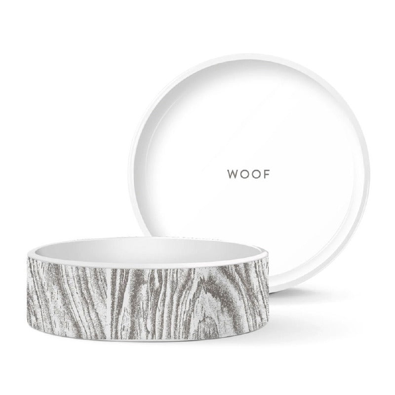 Wood Grain Dog Bowl