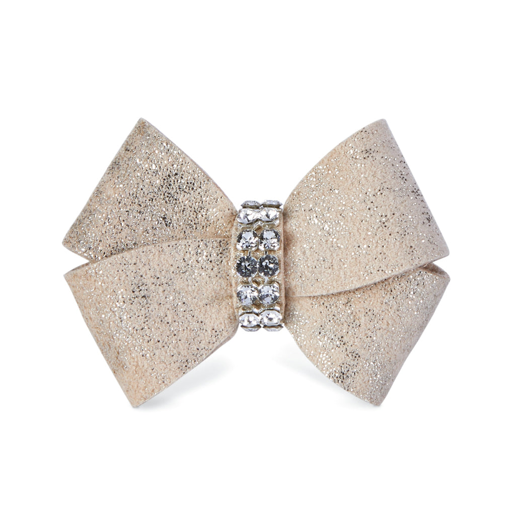 Dog Bows - Gold Glitzerati Nouveau Dog Hair Bows by Susan Lanci Designs