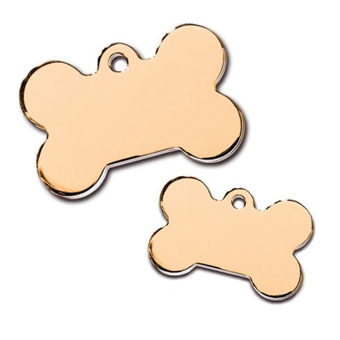 Bone Pet ID Tag: Gold