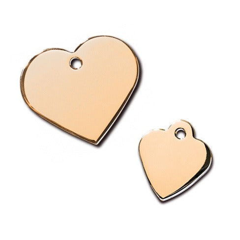 Heart Pet ID Tag: Gold