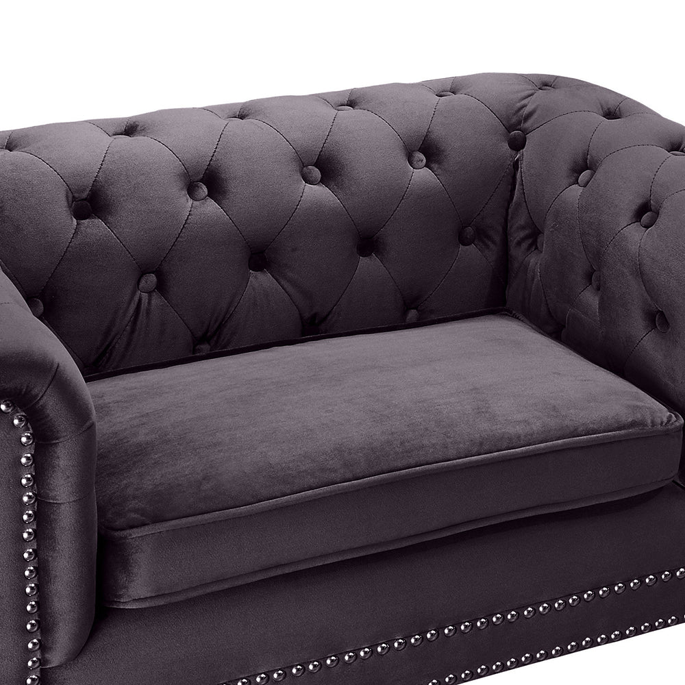 Chesterfield Pet Sofa: Grey