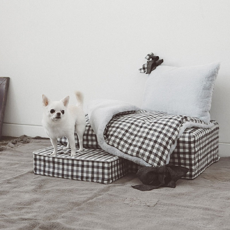 Gingham Heavenly Dog Bed
