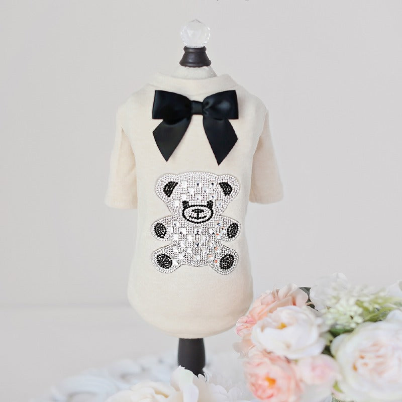Pet Boutique ; Designer Dog Clothes ; Teddy Bow Tee
