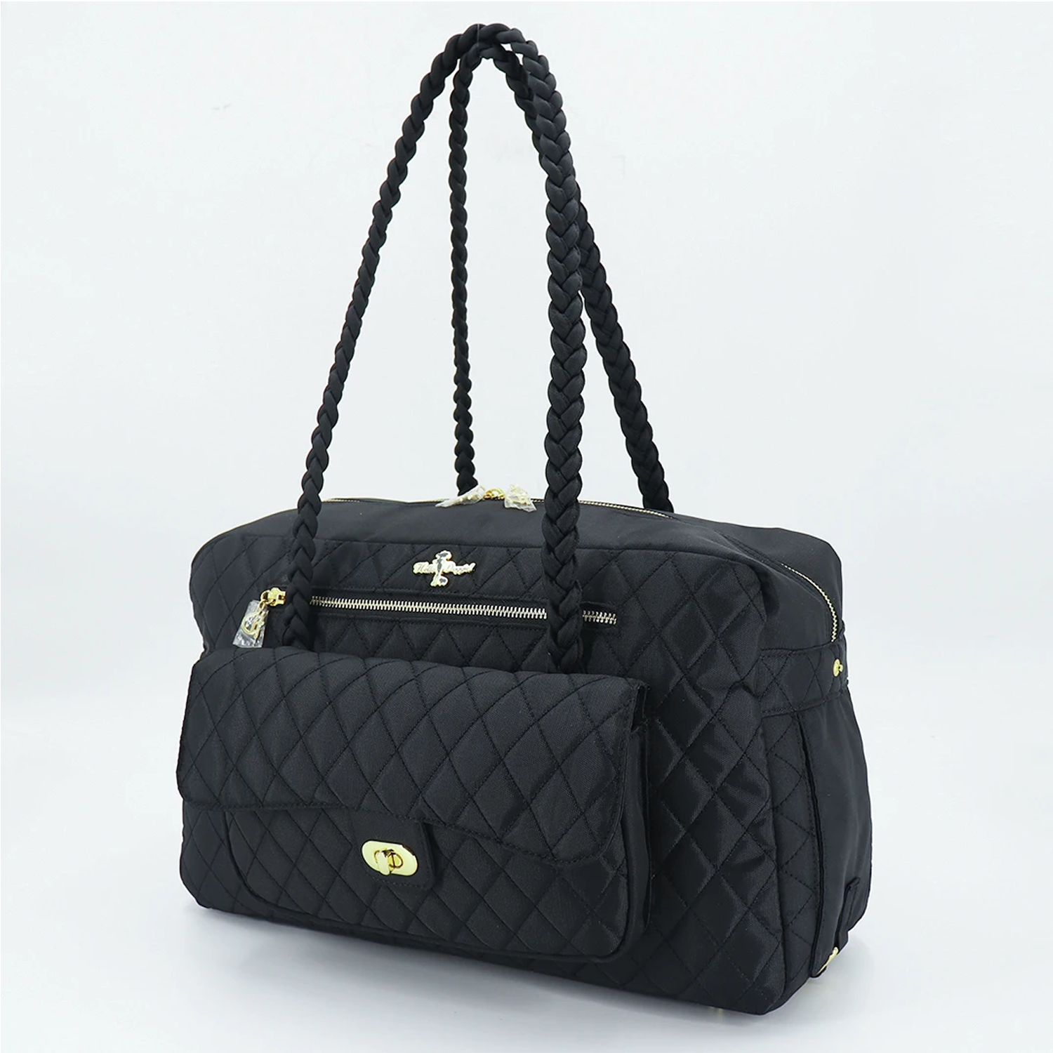 Porsha Dog Carrier: Black