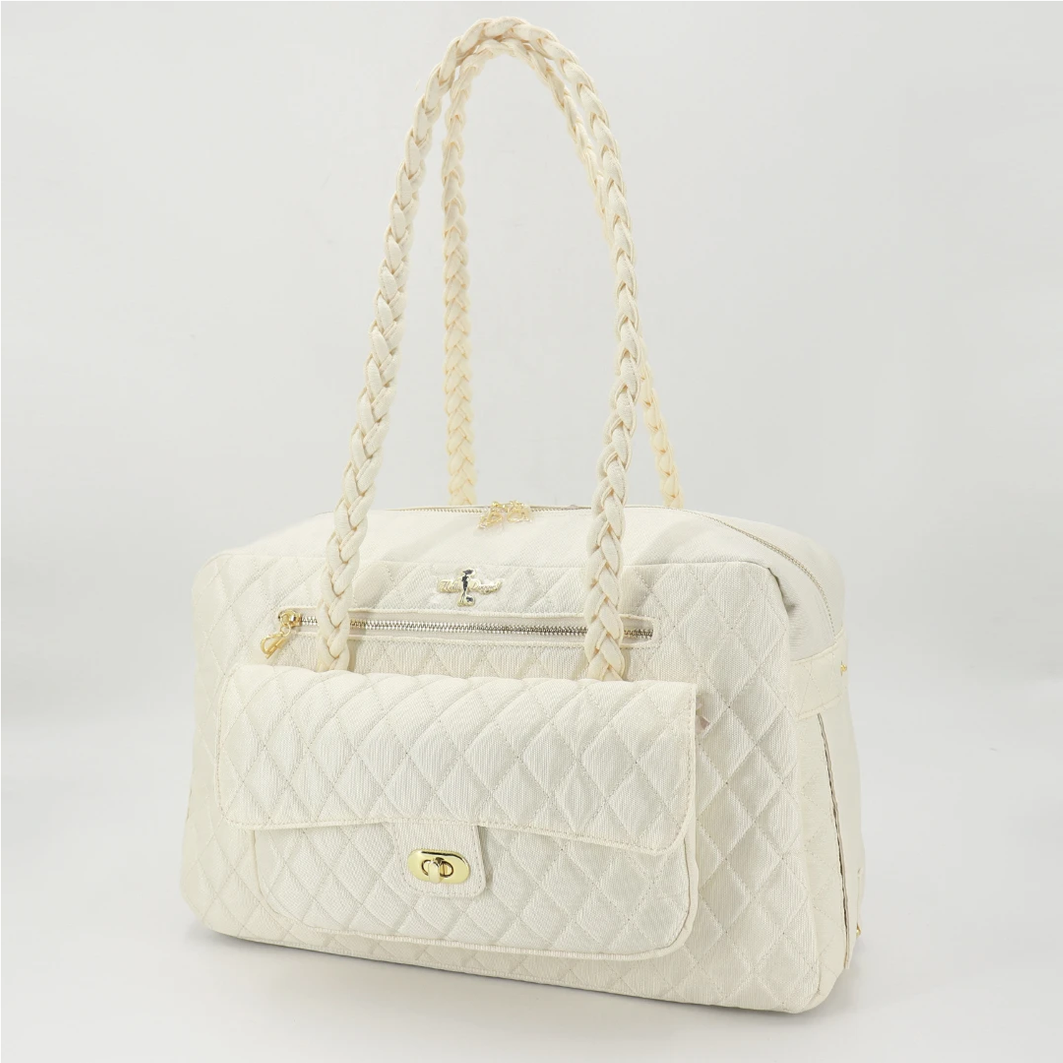 Porsha Dog Carrier: Cream