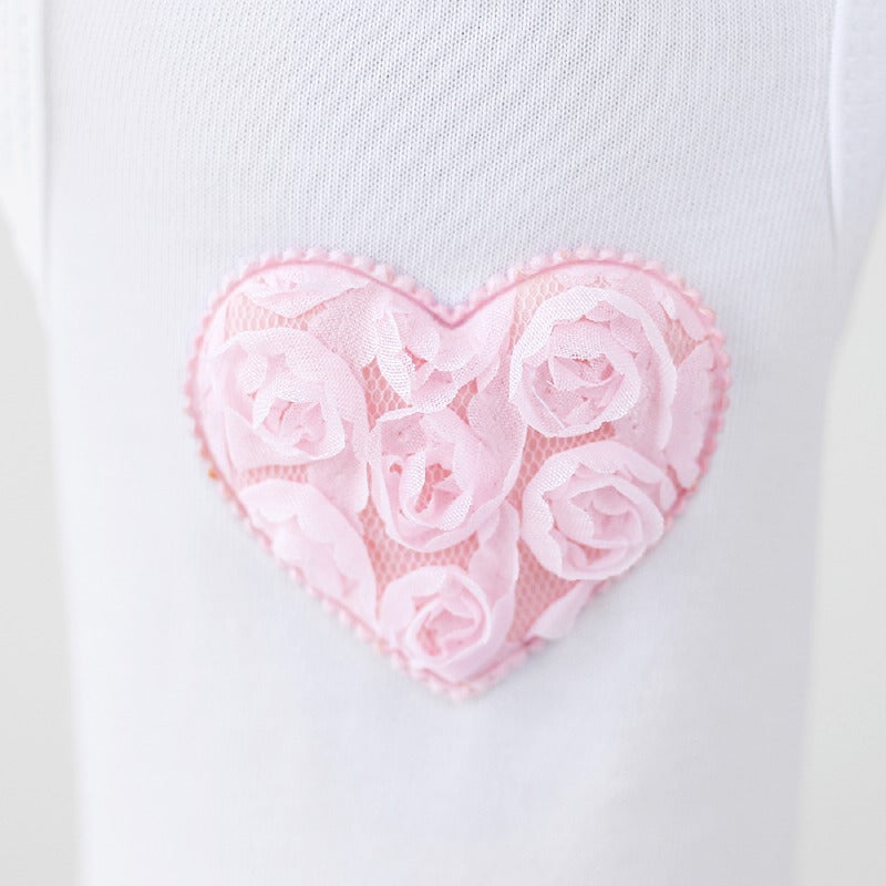 Puff Heart Dog Dress: Pink