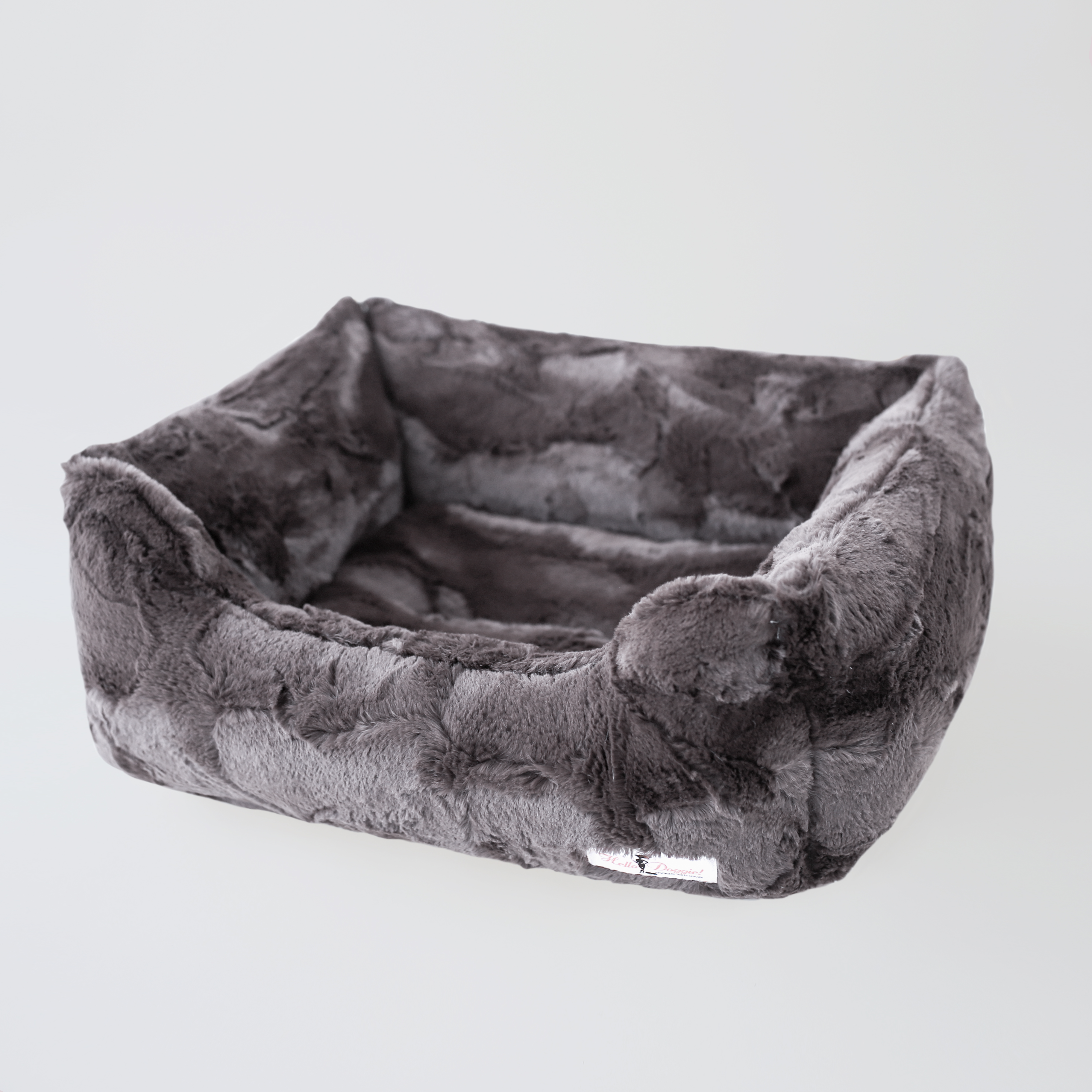 Luxe Luxury Dog Bed: Pewter