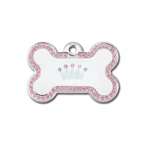 Crown Pet ID Tag: Pink Bling