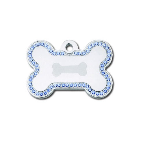Bone Pet ID Tag: Blue Bling