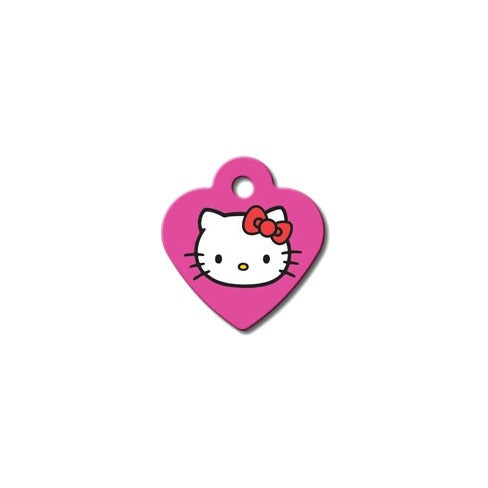Heart Pet ID Tag: Pink Hello Kitty (Small)