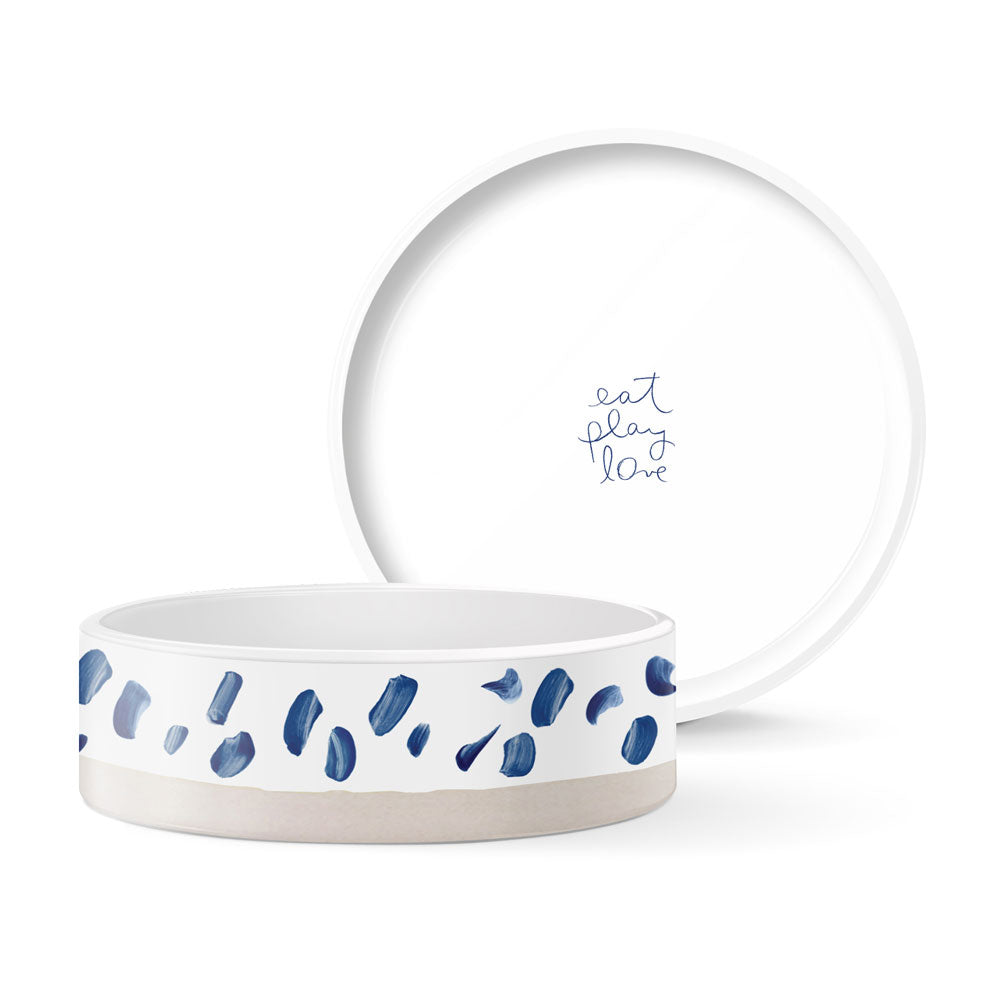 Pet Boutique - Dog Bowls - Indigo Marks Dog Bowl