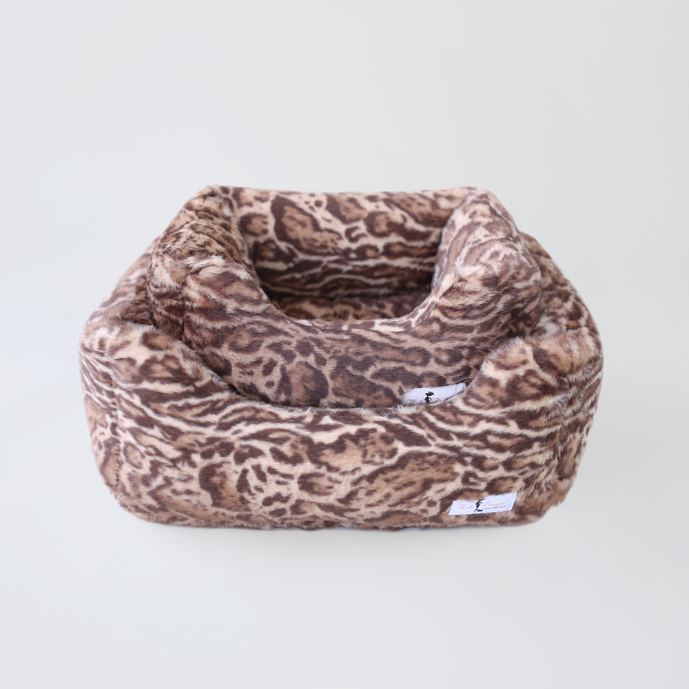 Deluxe Dog Bed: Jungle Cat