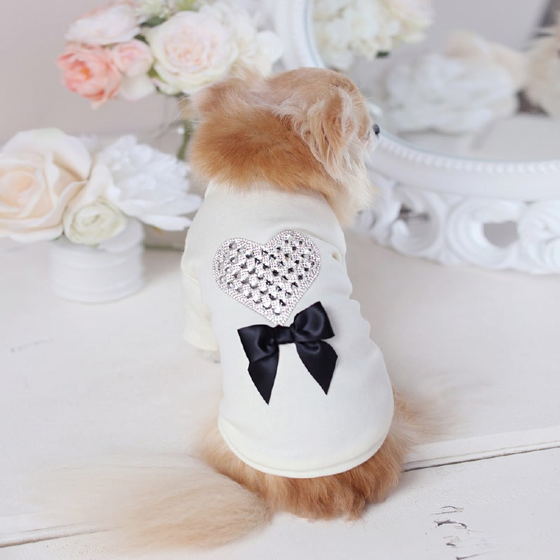 Pet Boutique ; Designer Dog Clothes ; Oh My Heart Dog Tee