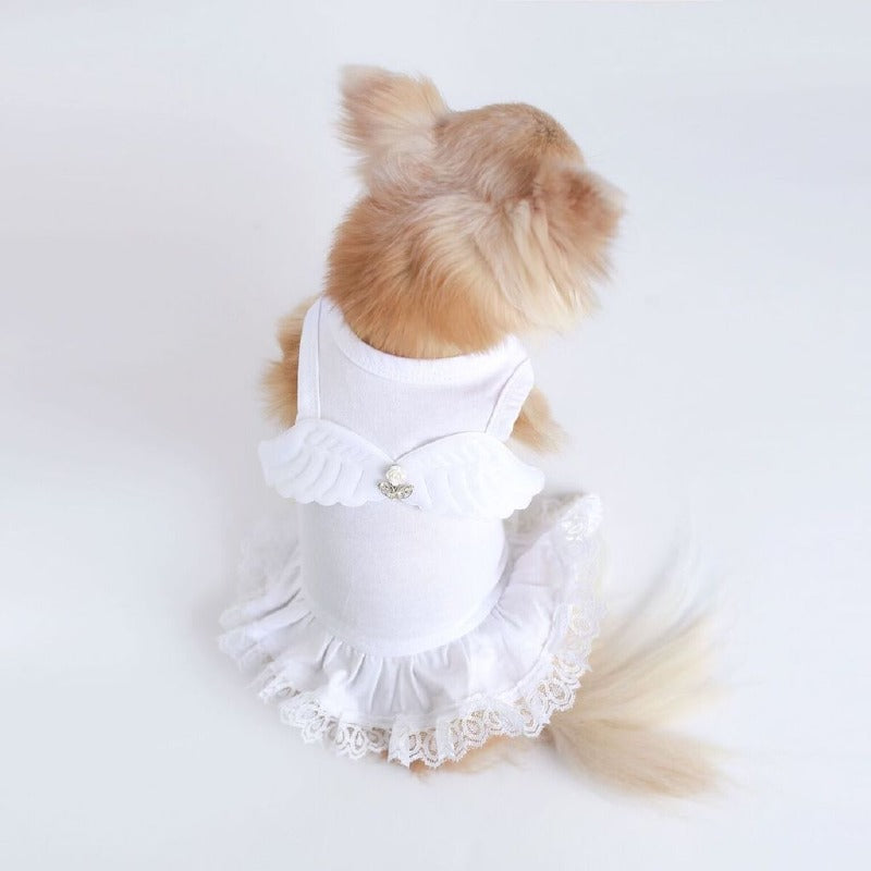 Pet Boutique - Designer Dog Clothes - Hello Doggie Angel Wings Dog Dress