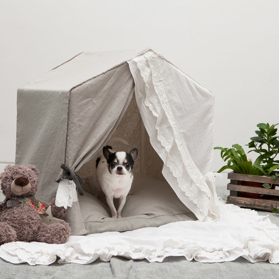 Pet Boutique - Dog Bed - Linen Secret Dog House