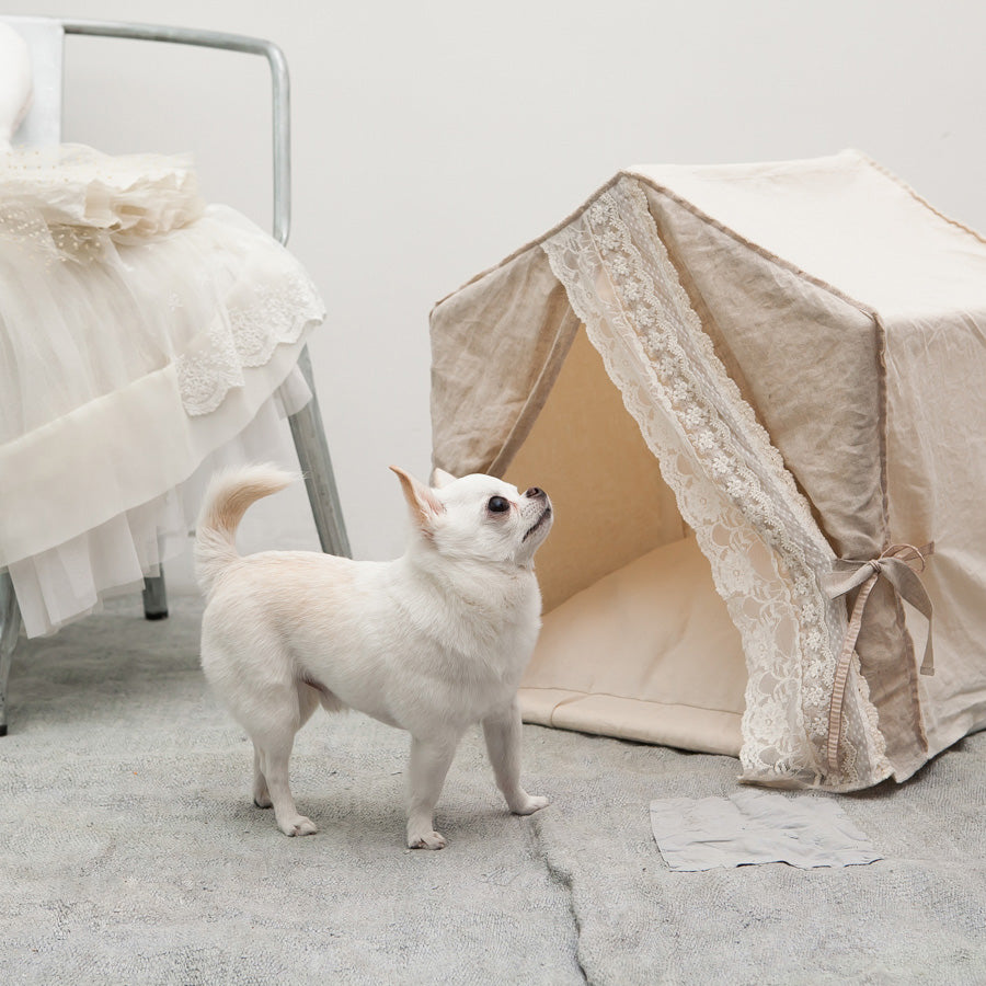 Linen Secret Dog House: Beige
