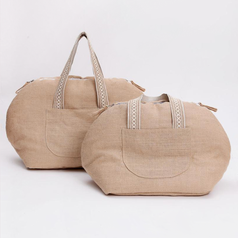 Linenaround Dog Bag: Tan
