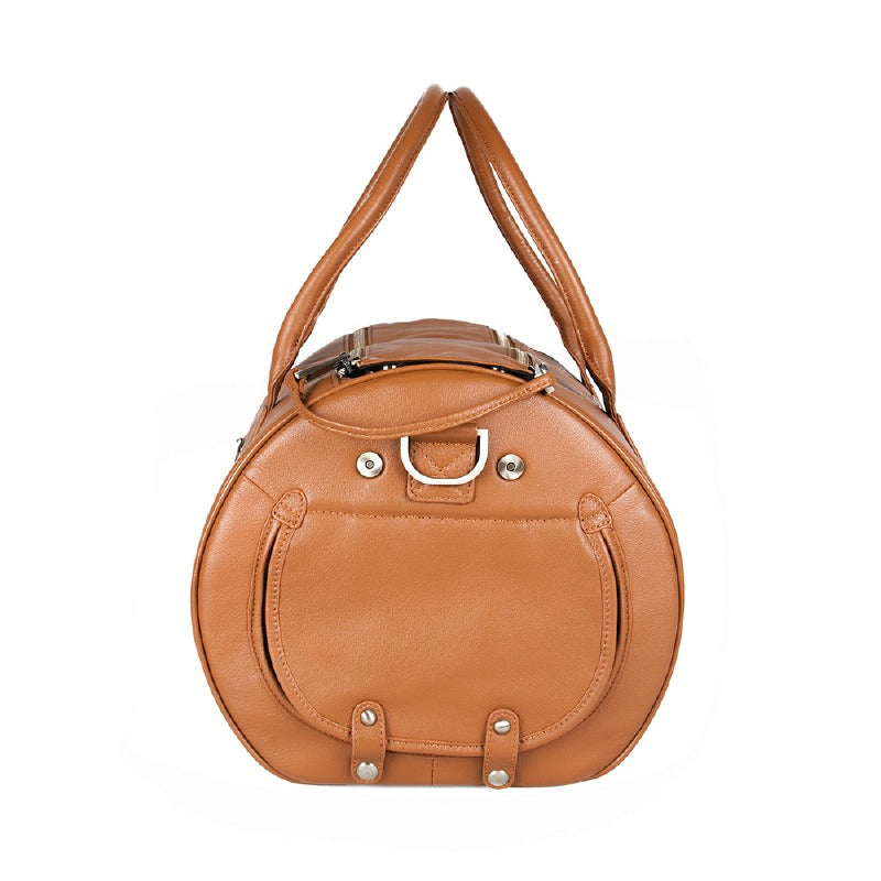 Merikh Leather Dog Carrier: Brown