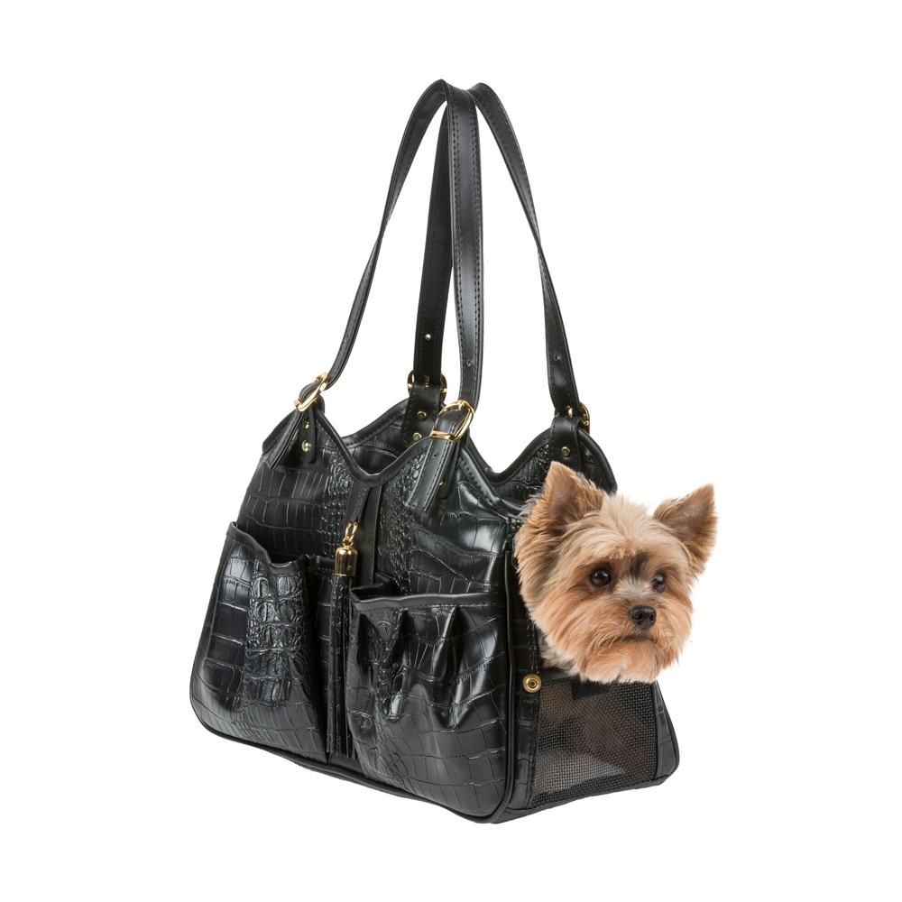 Metro Croco Pet Carrier: Black