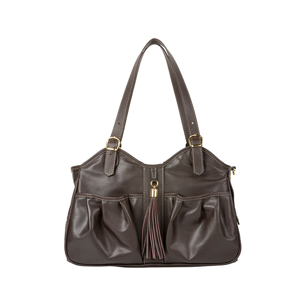 Metro With Tassel Pet Carrier: Brown