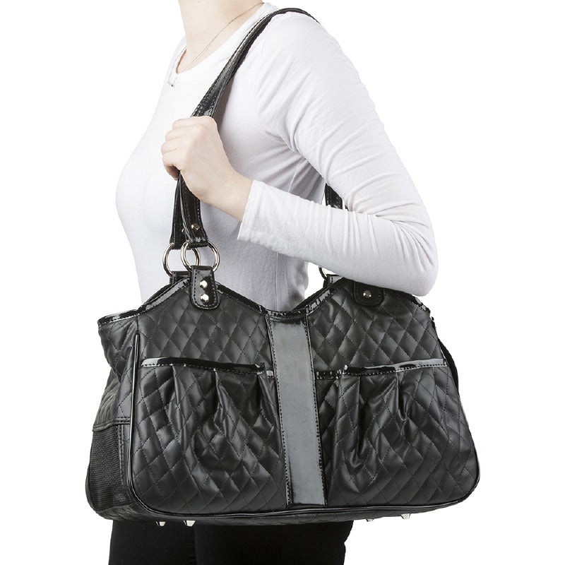 Metro Quilted Pet Carrier: Black